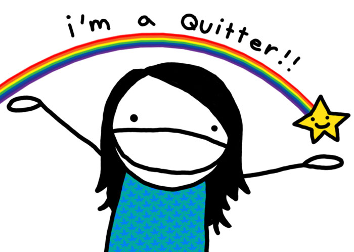 Image result for happy quitter