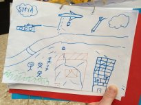 drawings of refugee children 2