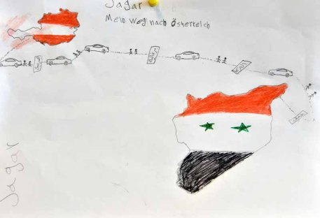 drawings of refugee children 5