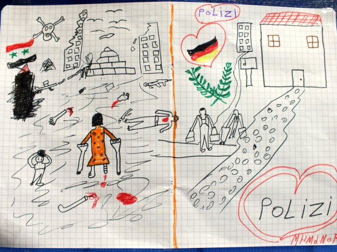 drawings of refugee children 8