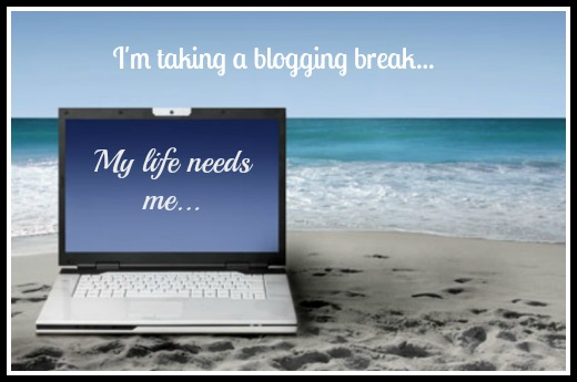 blogging break 2