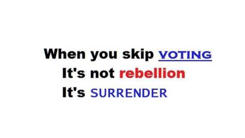 not voting 4