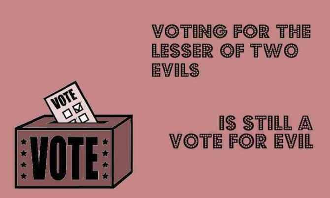 not voting