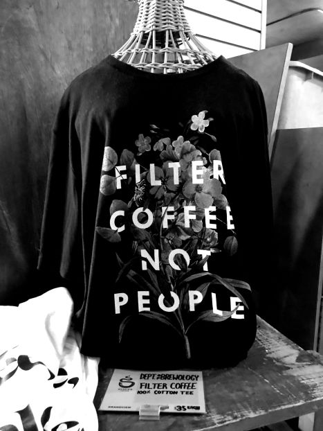filter coffee black and white